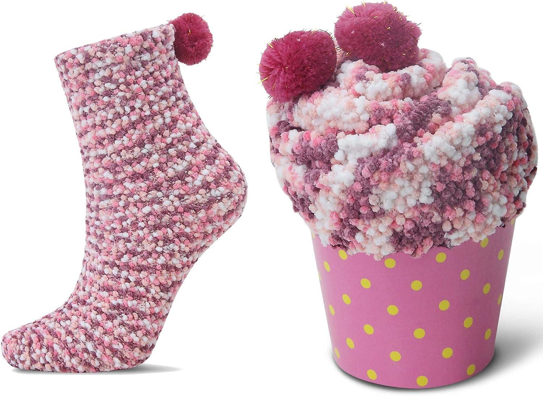 JARSEEN 2 Caja Regalo Navidad Calcetines Dia de san Valentin Super Suaves Cómodos Calentar Mujer DIY