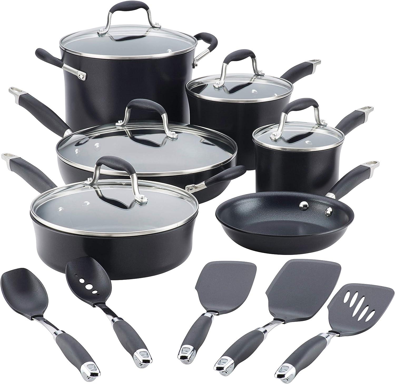 Anolon Advanced Hard-Anodized Nonstick Cookware Set under $300