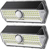 Luz Solar Exterior【Súper Brillante 4 modos】con Sensor de Movimiento, LITOM luces solares led exterior, IP67 Impermeable…