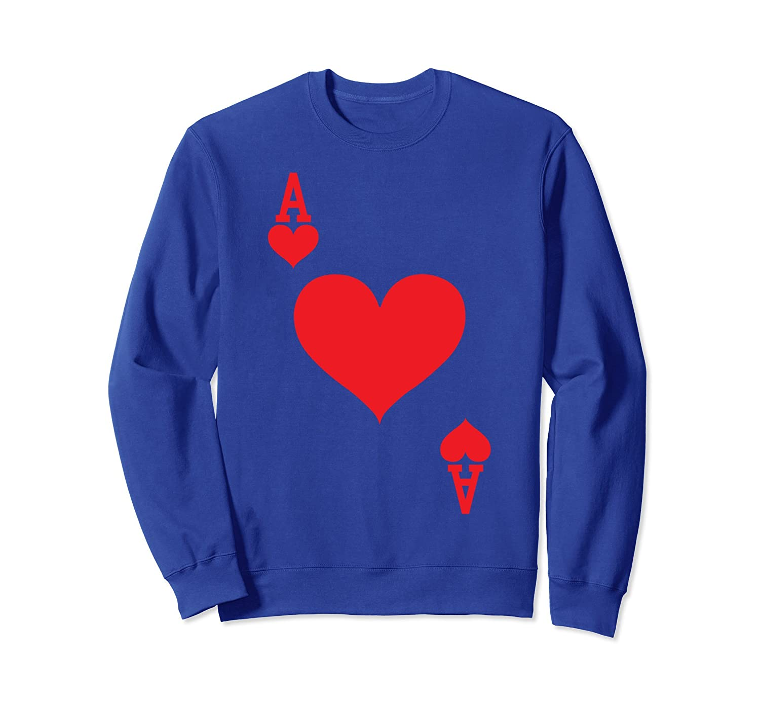Ace of Hearts - Playing Card Halloween Costume Sweatshirt-mt