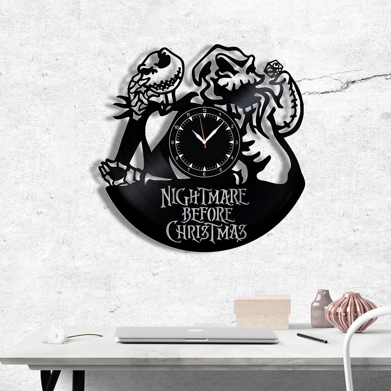 Amazon.com: Nightmare Before Christmas Wood Clock - Nightmare Before ...