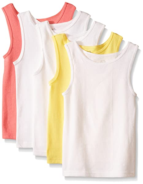 32e211445bb82a Amazon.com: Fruit of the Loom Little Girls' Tank Top (Pack of 5): Tank Top  And Cami Shirts: Clothing