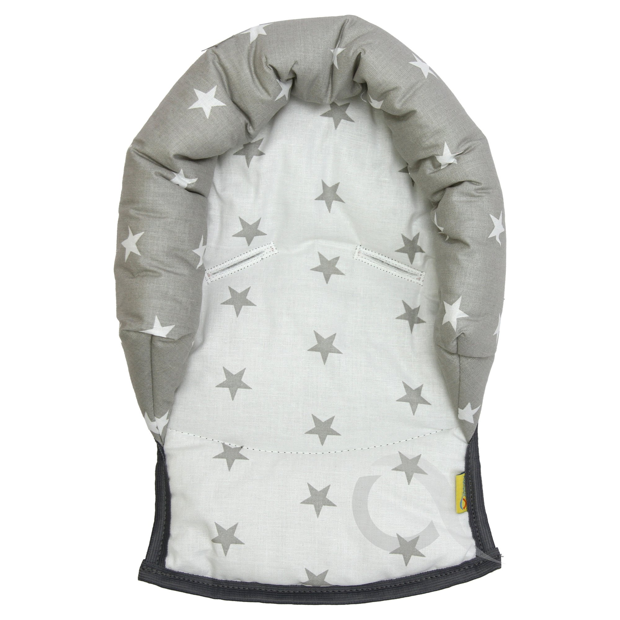 Soft Cotton UNIVERSAL Infant \ Baby \ Toddler car seat stroller head support pillow Butterfly//grey