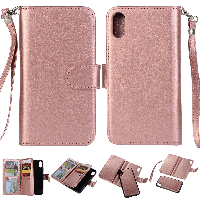 more photos d4a11 c3e94 Amazon.com : iPhone X Wallet Case, SUPZY Leather Detachable Magnetic ...