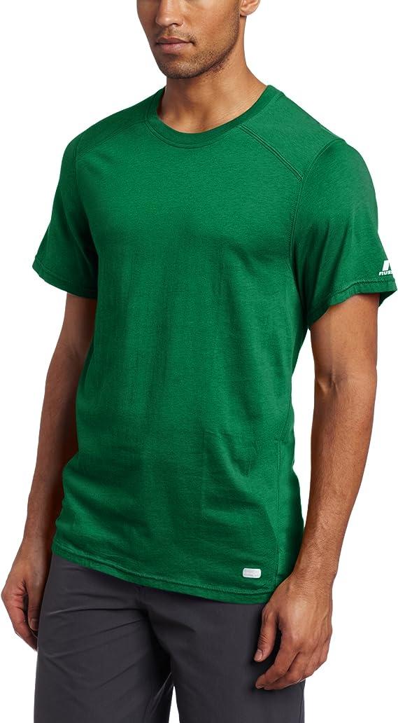 Vska Men Solid Plus Size Distressed Long Sleeve T-Shirt Top