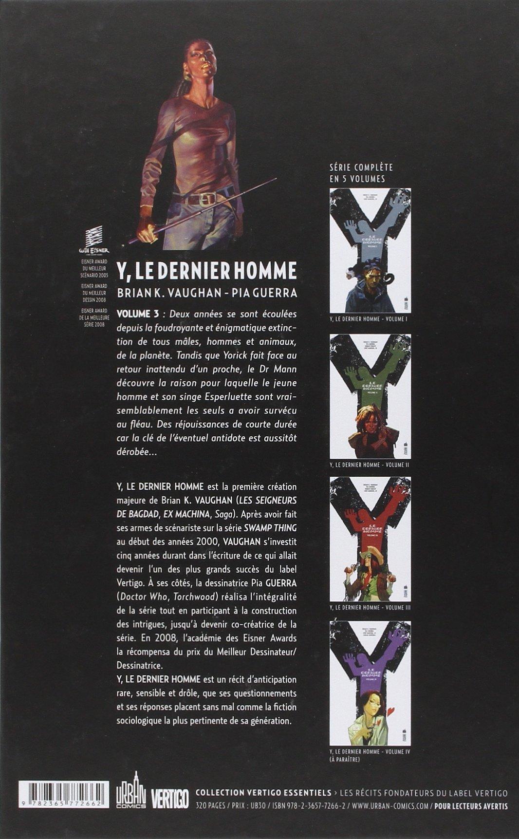 Y Le Dernier Homme volume 3: Amazon.fr: Vaughan Brian K., Guerra Pia: Livres