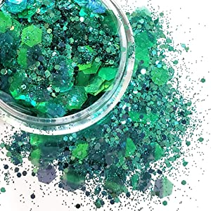 Chunky Glitter Makeup ✮ Starlightshine Nature 6g ✮ Festival Cosmetic Beauty Makeup Face Body Glitter Hair Nails Rave Iridescent Glitter (6g)