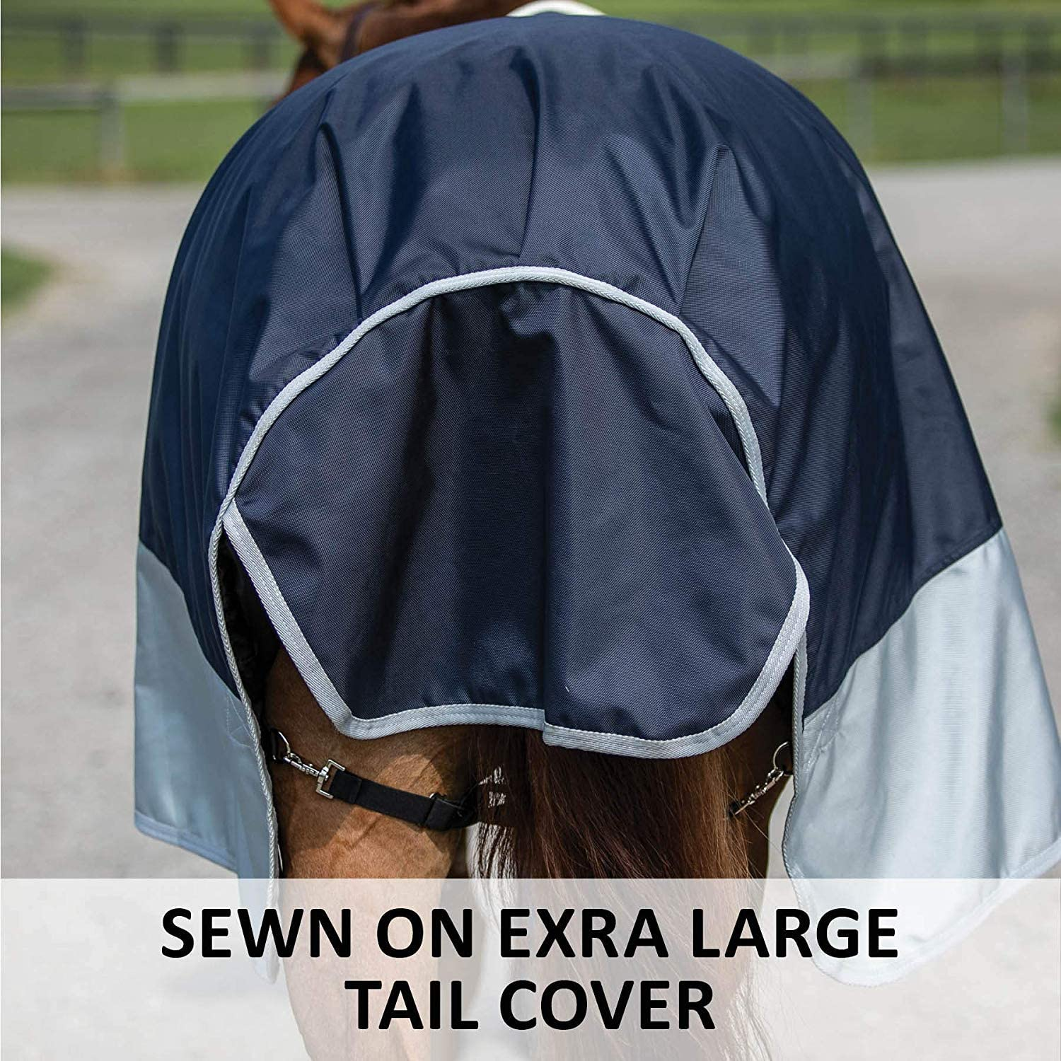Various Sizes and Colors 1680D Waterproof Euro Fit Criss-Cross Surcingle Windproof /& Breathable Outer Cover Two Buckle Open Front Dura-Tech Viking Horse Turnout Sheet