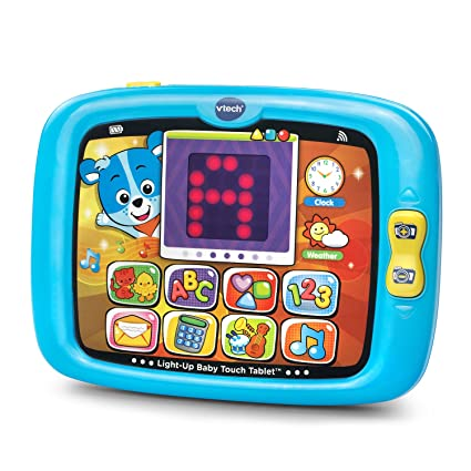 VTech Light-Up Baby Touch Tablet Amazon Exclusive, Blue