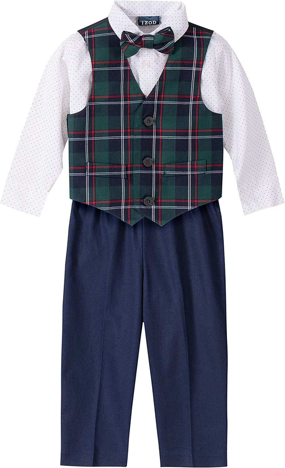 Bow Tie Shorts and Vest IZOD Boys 4-Piece Set with Dress Shirt