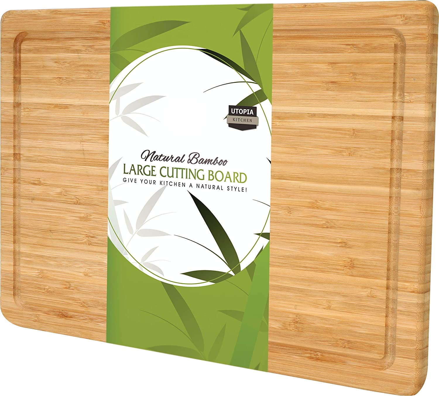 Utopia Kitchen Extra Large Bamboo Cutting Board (17 by 12 inch)