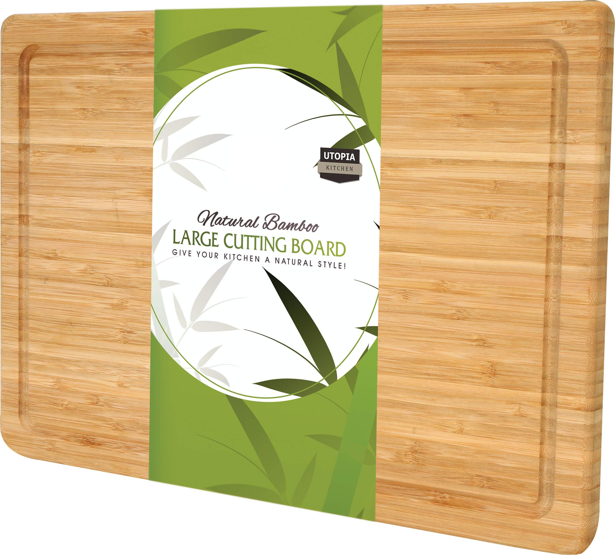 Extra Large Bamboo Cutting Board (17 by 12 inch) - Utopia Kitchen by Utopia Kitchen
