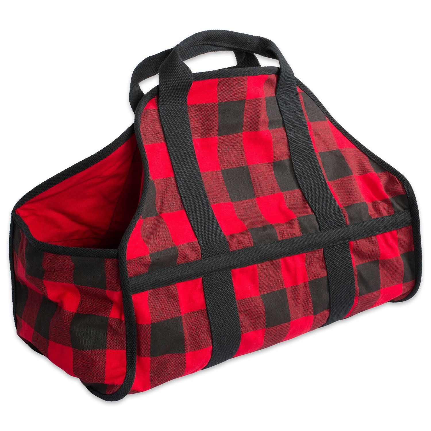 DII CAMZ37646 Cotton Heavy Duty Canvas Firewood Log Carrier Tote Bag, 22 x 16.5 x 10''