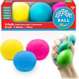 Power Your Fun Arggh Mini Stress Balls for Adults and Kids - 3pk Squishy Stress Balls with Light, Medium, Heavy Resistances,