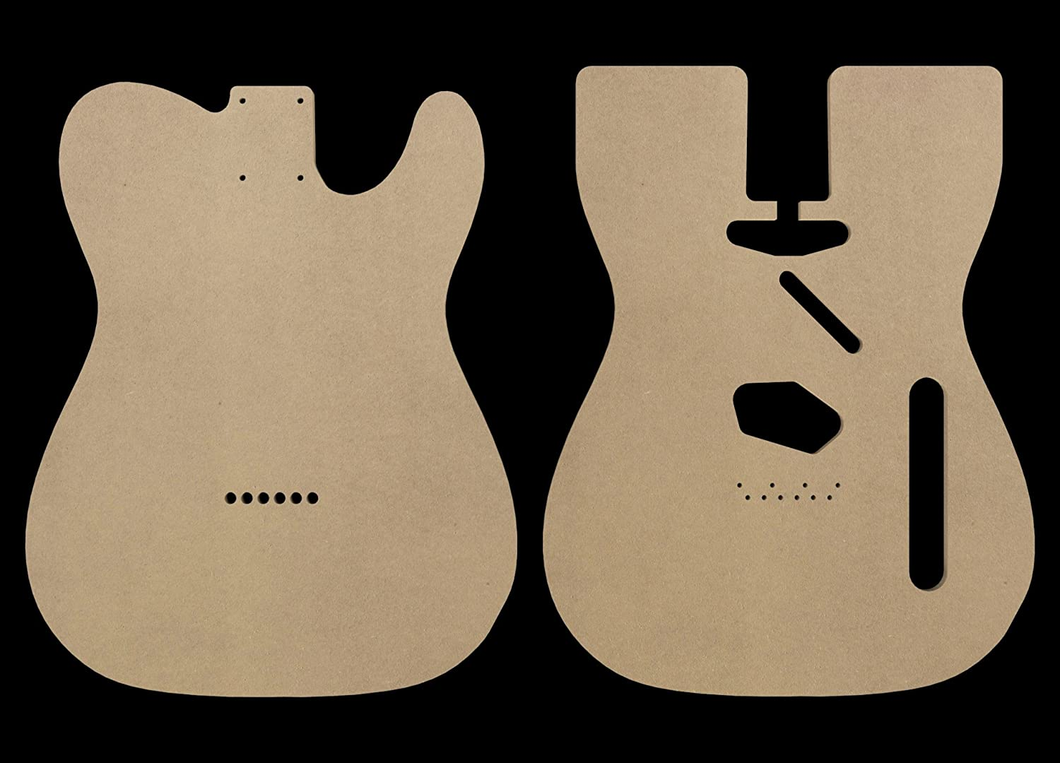 Amazon Telecaster Mdf Guitar Body Template 025 Thickness