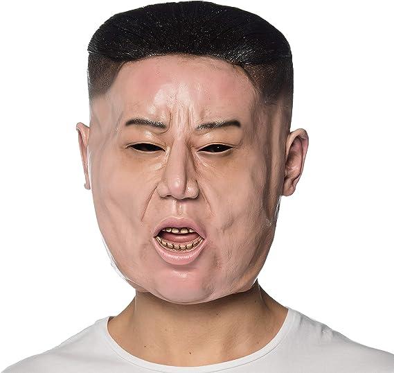 Mens Dictator Fancy Dress Mask Kim Jong Un Full Head Latex Mask by Smiffys New