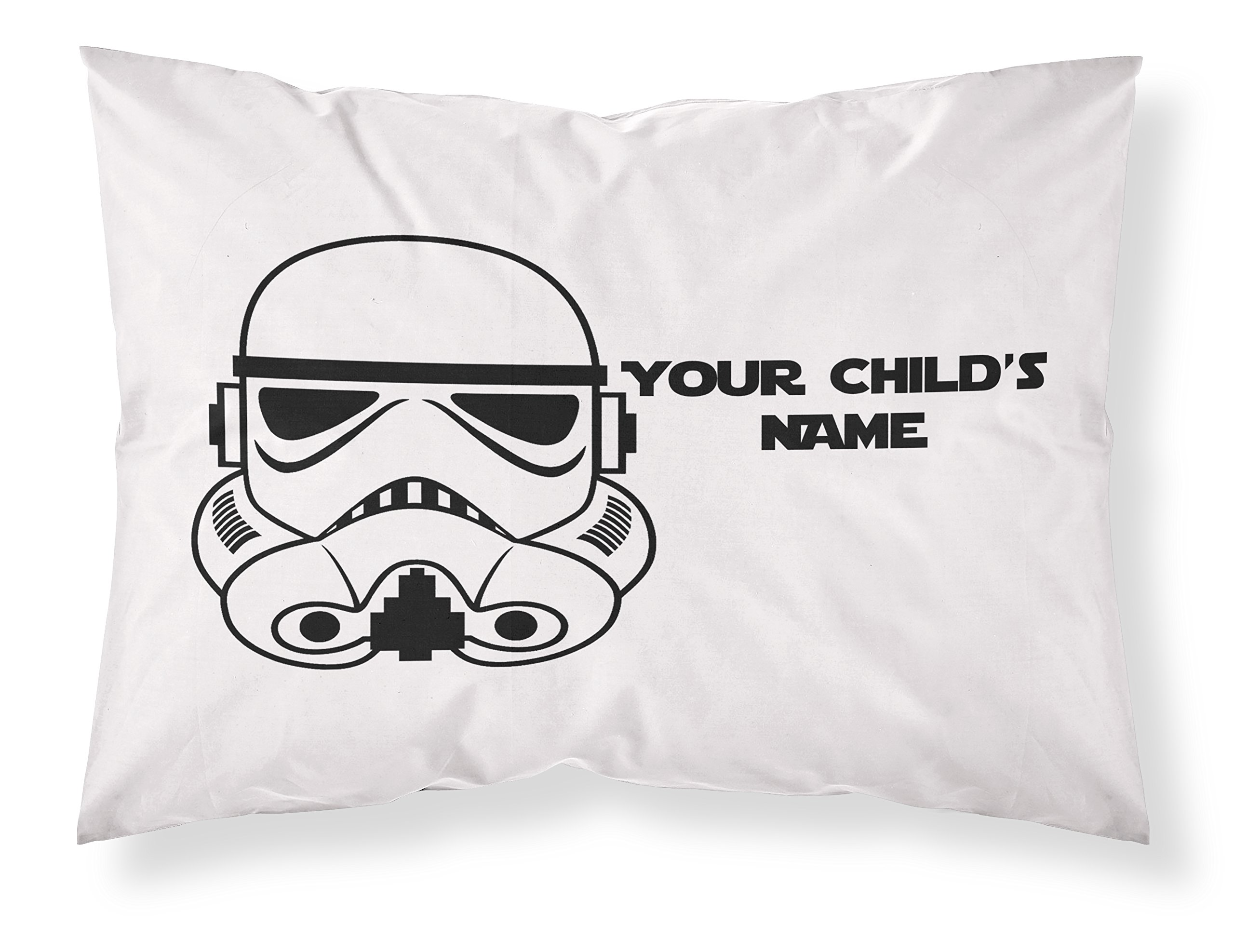 Customizable, StarWars Themed Pillowcase, Featuring A Stormtrooper! Personalized With Your Child's Name - Perfect Gift For Boys Of All Ages!