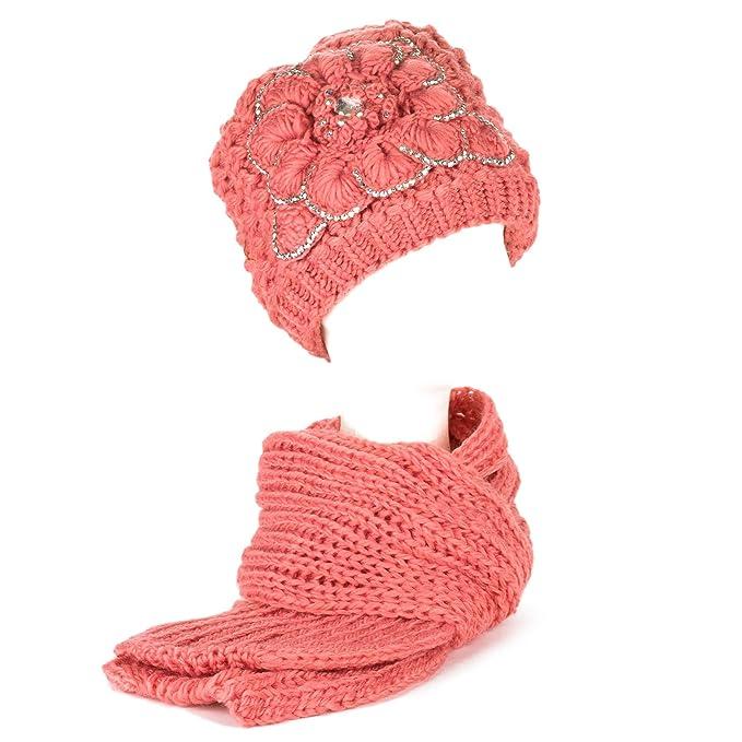 d2d Socks Mujer/Señoras Chicas De Punto Bufandas Chales Sombreros ...