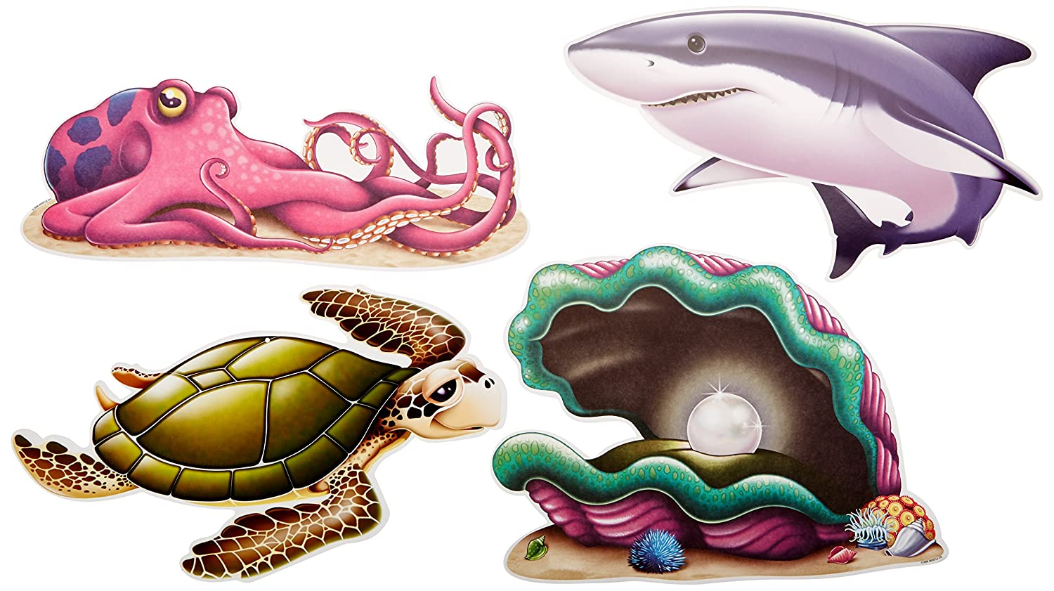 amazon com under the sea creature cutouts 4 pkg childrens