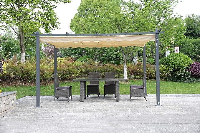AGL Tlink - Carpa de Aluminio para terraza, tamaño 3X4M, 157.48 x 118.11 x 88.58inches: Amazon.es: Jardín