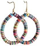 Bohemian Multi-Colored Sequin Hoop Gold Earrings - SPUNKYsoul Collection…