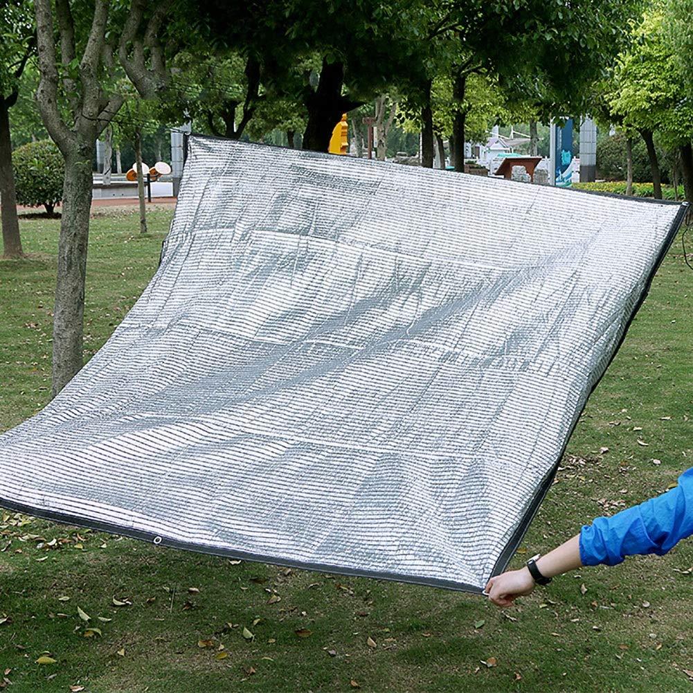 芝生植物カバー、グロメット付き80%日焼け止めUV耐性通気性断熱材、アルミホイルオーニング (Size : 3M×7M)  3M×7M