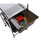 Mind Reader 3 Drawer Rolling Storage Cart and