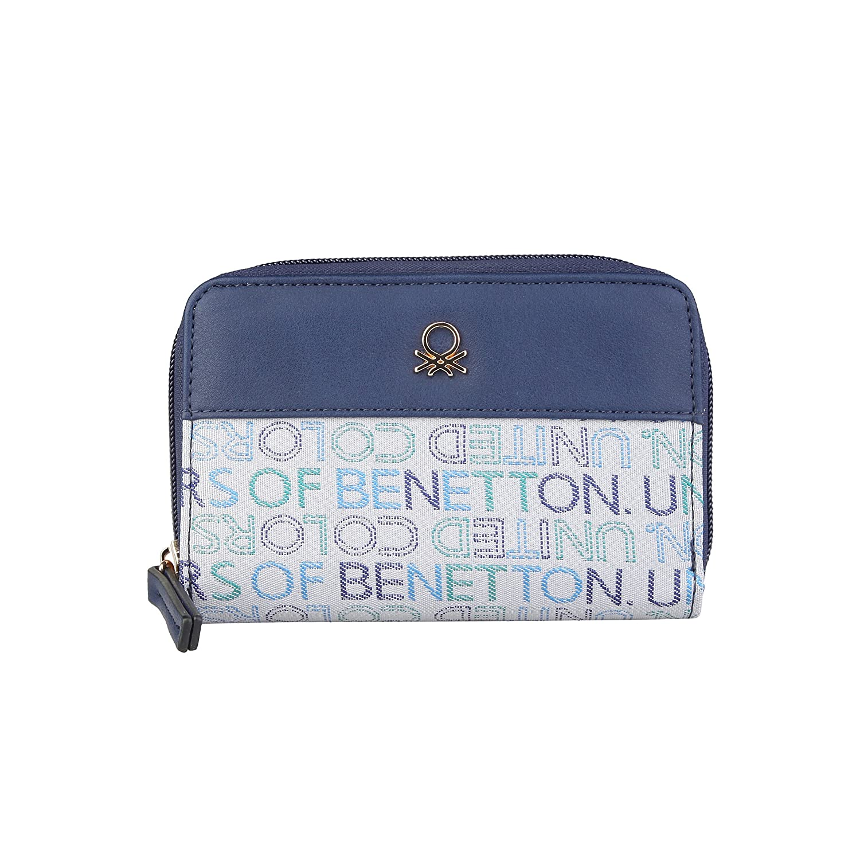 BENETTON cartera mujer 12A73744 azul - mujer - TU: Amazon.es ...