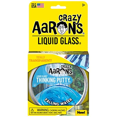 "Crazy Aaron's Transparent Thinking Putty - 4"" Falling Water Liquid Glass Tin - 90 Grams, Never Dries Out: Toys & Games"