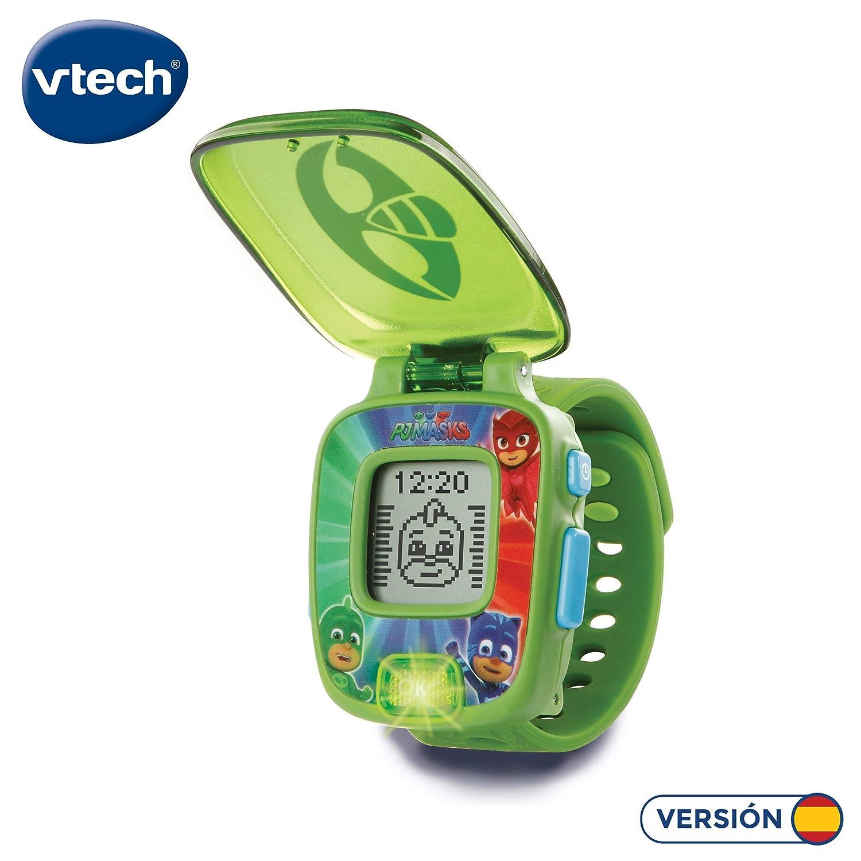 VTech PJ Masks Gekko, Reloj Digital Educativo, Color Verde (80-175887)
