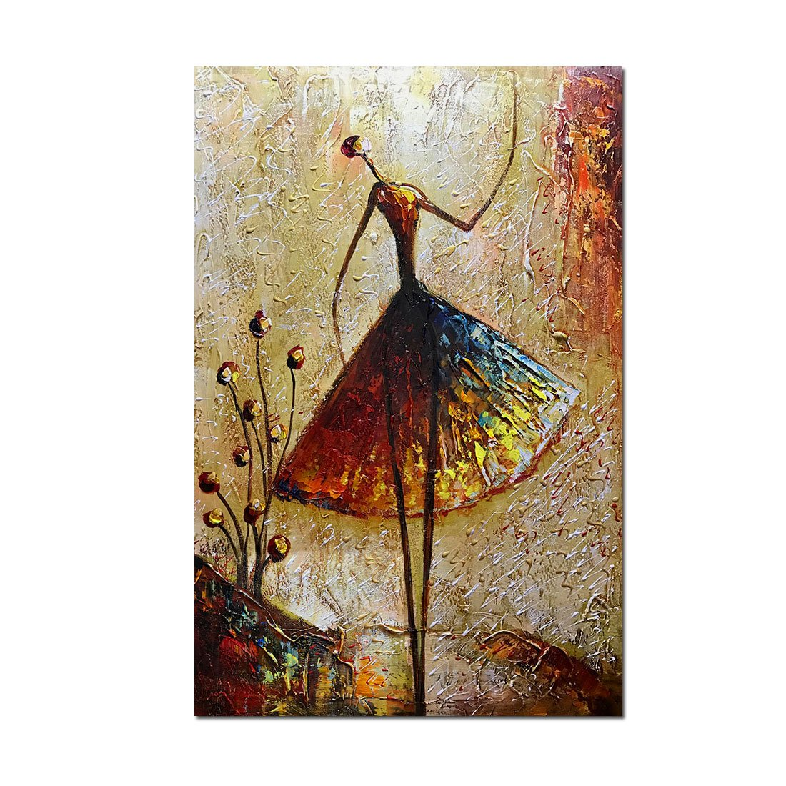 Charming Metuu Oil Paintings, Ballet Dancer Girl Paintings Modern Home Decor Wall  Art Painting Wood Inside Framed Hanging Wall Decoration Abstract Painting  Ready To ...