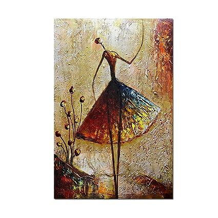 Metuu Oil Paintings, Ballet Dancer Girl Paintings Modern Home Decor Wall  Art Painting Wood Inside