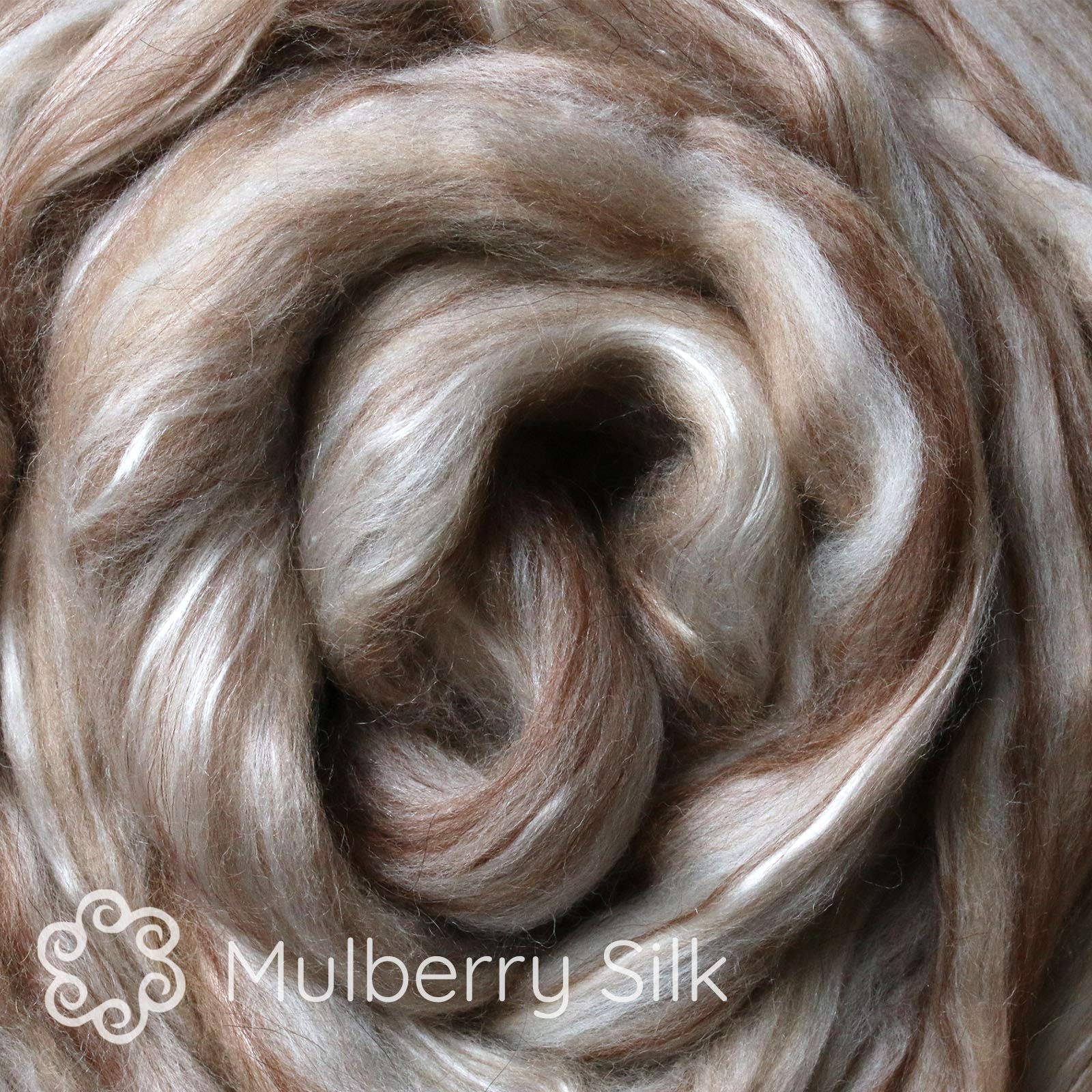 Merino Alpaca Camel Mulberry Silk. Luxuriously Soft Fiber Blend. Natural Undyed Combed Top for Spinning and Felting by Living Dreams Yarn (Image #2)