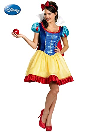 Amazon.com: Deluxe Snow White – Adulto Disfraz – Grande ...