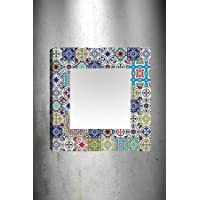 TabloCenter AK332090240_5050 Dekoratif Kanvas Tablo Ayna, 50x50cm