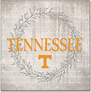 NCAA Legacy Tennessee Volunteers Canvas Wall Art 14x14, One Size, Custom