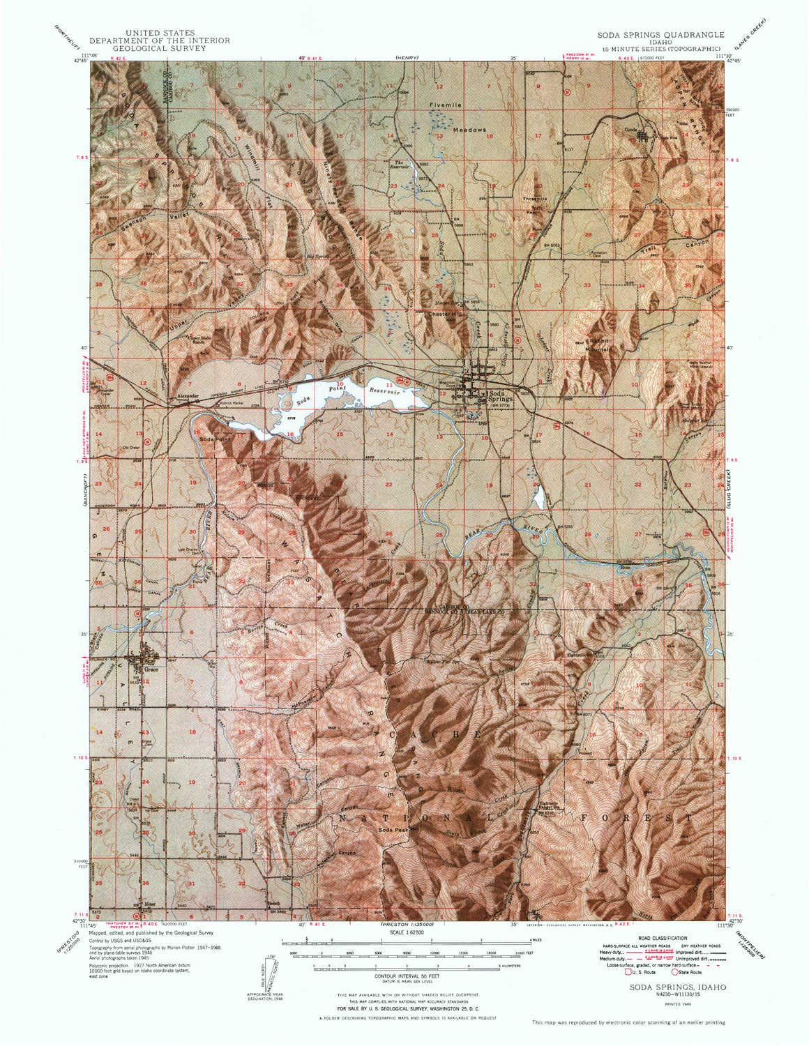 Amazoncom Yellowmaps Soda Springs Id Topo Map 162500 Scale 15 - Soda-map-of-the-us