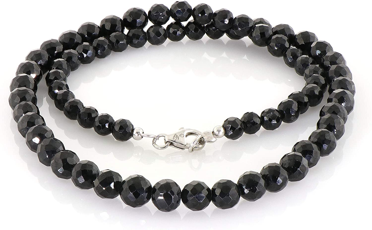 45 Natural  Black Spinel Faceted Round Beads 3.8 mm.