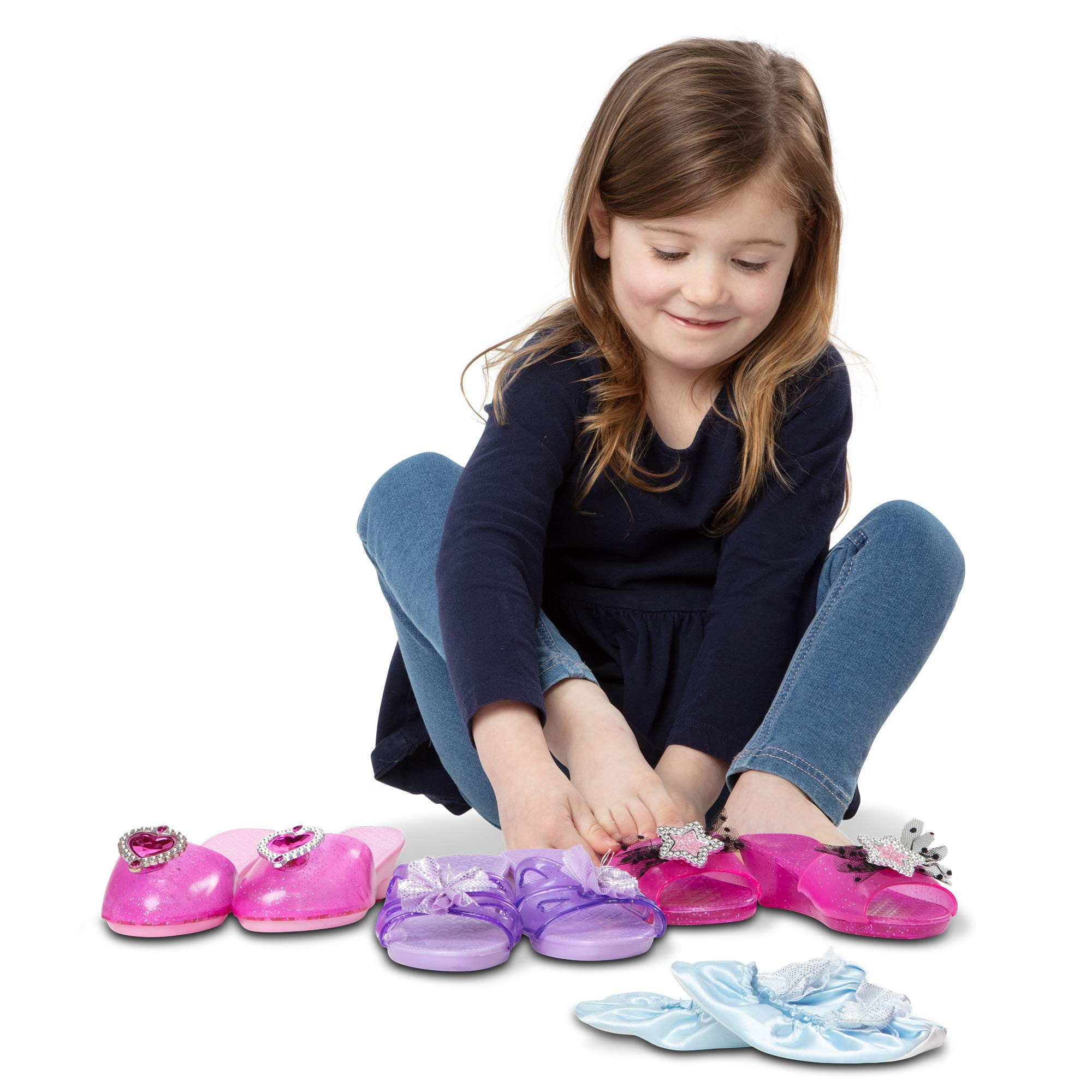Melissa & Doug Role Play Collection, Step in Style! (Set of 4 Pairs, Frustration-Free Packaging, Great Gift for Girls and Boys - Best for 3, 4, and 5 Year Olds) by Melissa & Doug
