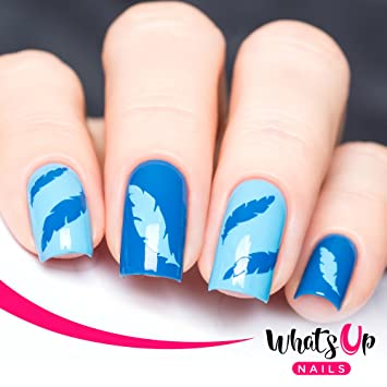 Amazon Whats Up Nails Feather Vinyl Stencils For Nail Art