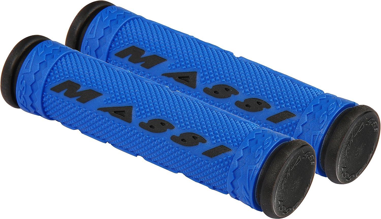 Massi Puños de Bicicleta, Unisex Adulto, Azul/Negro, 125mm: Amazon.es: Deportes y aire libre