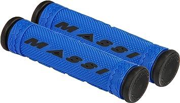 Massi Puños de Bicicleta, Unisex Adulto, Azul/Negro, 125mm ...