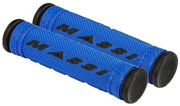 Massi Puños de Bicicleta, Unisex Adulto, Azul/Negro, 125mm: Amazon ...