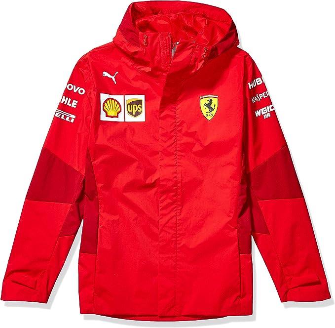 Puma Herren Scuderia Ferrari Sf Team Jacket Jacke Rosso Corsa Ohne Mw Logo X Klein Bekleidung