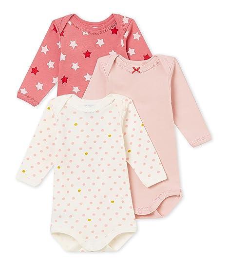 53085a807f8 Petit Bateau SF BODIES US ML Body Bébé fille Multicolore (Variante 1 00)  6-9 mois (Taille fabricant  6M 6 MOIS)LOT DE 3  Amazon.fr  Vêtements et  accessoires