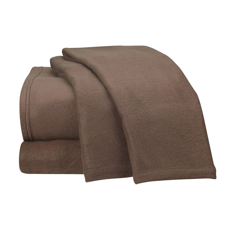 Fancy Collection Super Soft 3Pc Sheet Set Micro Polar Fleece Bed Sheet Set, Twin Size Light brown