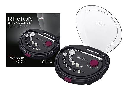 Revlon Ultimate Glam - Set de manicura y pedicura, rotacion bidireccional, 12 accesorios