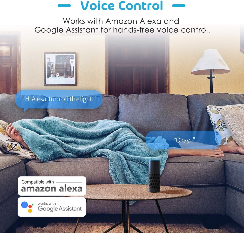 Google Home et SmartThings FIL NEUTRE REQUIS Interrupteur Mural Tactile avec Commande Vocale et Contr/ôle /à Distance Interrupteur Connect/é WiFi Interrupteur Intelligent Compatible avec Alexa