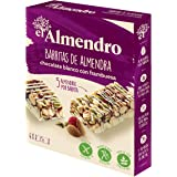 El Almendro - Barritas de Almendra, Chocolate Blanco y Frutos Rojos - 4x25 gr - Sin Gluten - Sin Aceite de Palma…