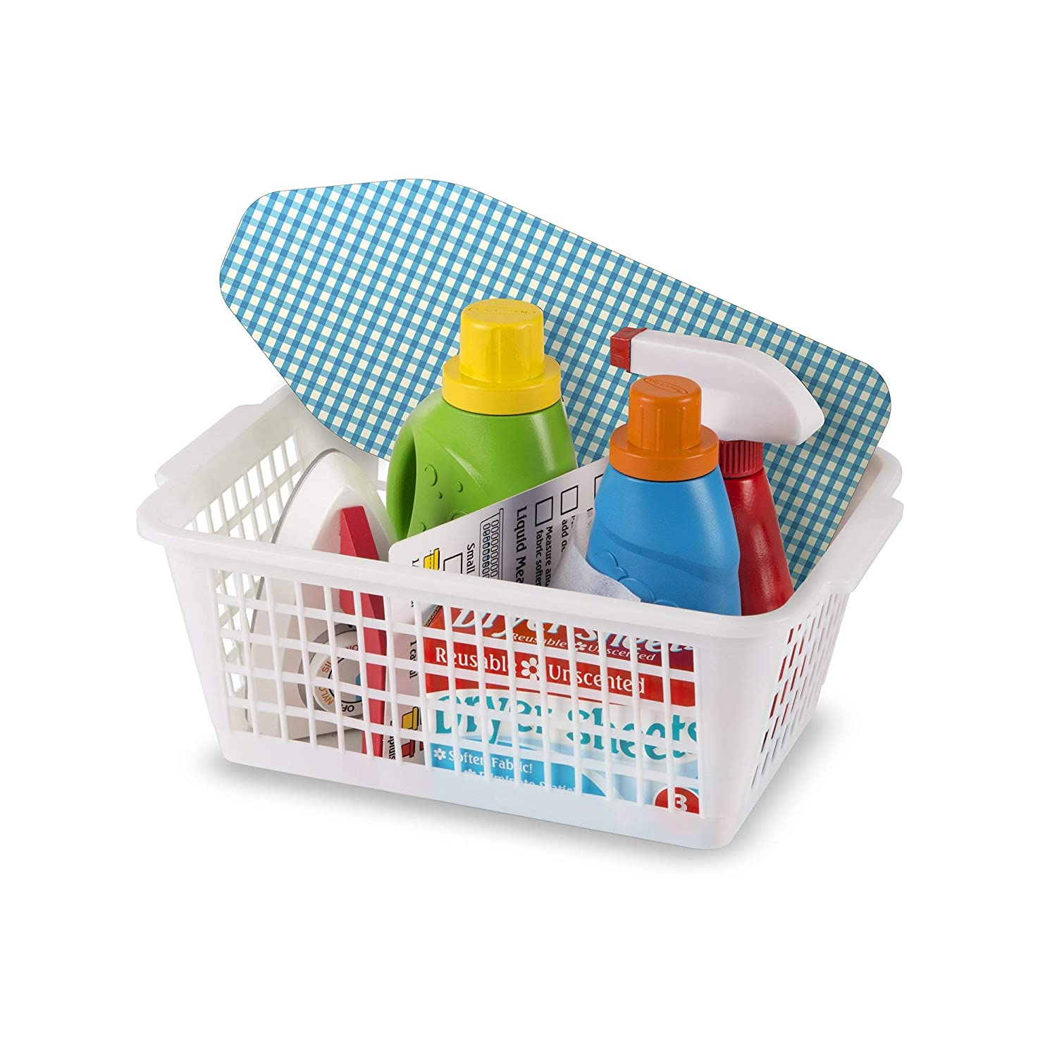 Ironing Board Renewed 11 Pcs Melissa /& Doug Laundry Basket Play Set With Wooden Iron and Accessories